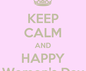 card, women's day, and keep calm image