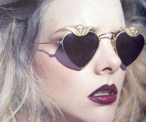 sunglasses, hair, and vintage image