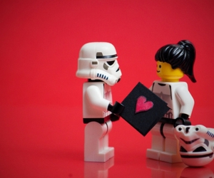 love, star wars, and lego image