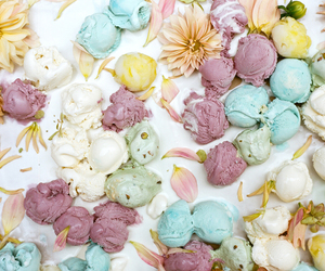 flowers, ice cream, and pastel image