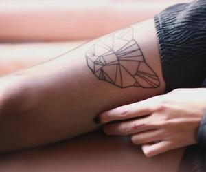 tattoo, cat, and origami image