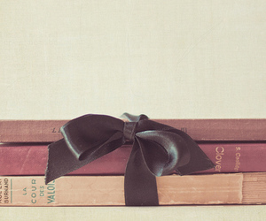 book, vintage, and ribbon image
