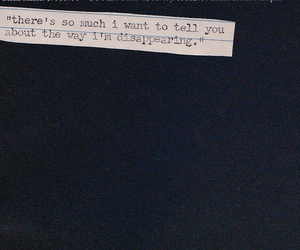quote, text, and disappear image