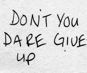 quotes, give up, and text image
