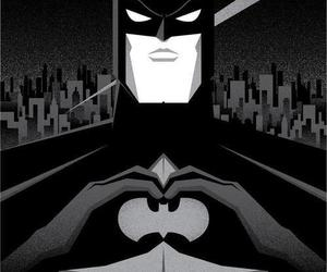 batman, black and white, and heart image