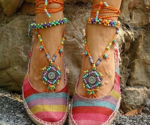 shoes, hippie, and boho image