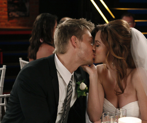 kiss and wedding dress image