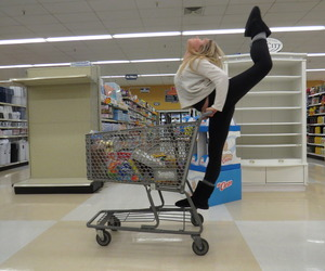 dance, flexible, and shopping image