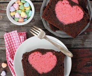 cake, food, and heart image