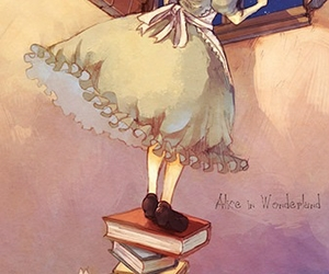 alice in wonderland, stars, and anime cute image