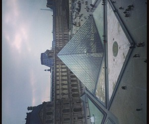 paris, pyramide, and scenery image