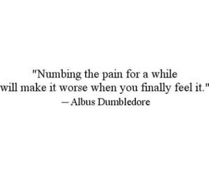 harry potter, pain, and NUMB image