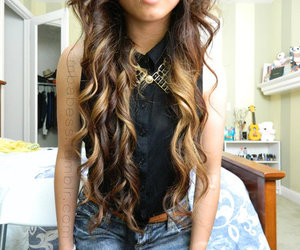 hair, fashion, and curls image