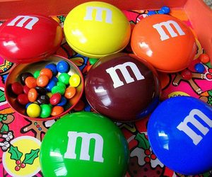 chocolate, m&m, and food image