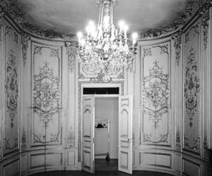 chandelier, chic, and door image