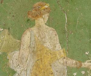 fresco, pompeii, and spring image