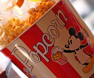 popcorn, food, and disney image
