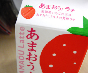 milk, strawberry, and japan image