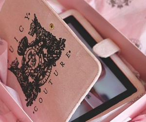 pink, juicy couture, and ipad image