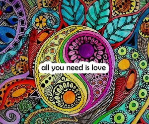 love, all you need is love, and the beatles image