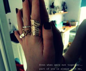 quote, girl, and rings image