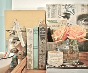 books, romantique, and roses image