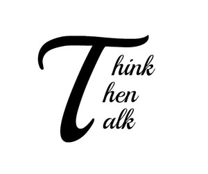 quote, think, and talk image