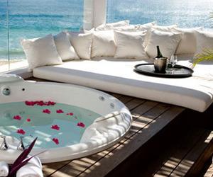 luxury, beach, and sea image