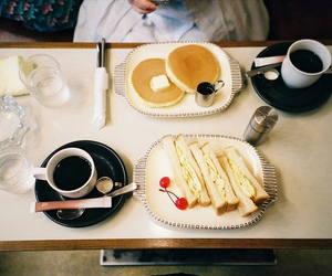 breakfast, coffee, and hipster image