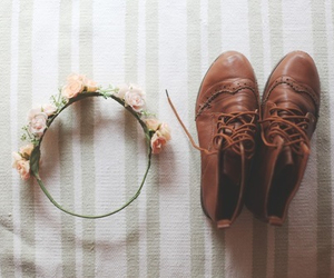 flowers, shoes, and vintage image