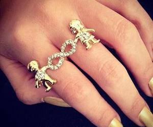 ring, infinity, and boy image