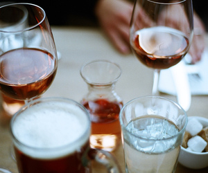 wine, beer, and food image