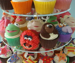 cupcake, muppets, and cake image