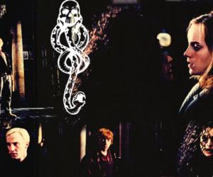 bellatrix lestrange, hermione granger, and deathly hallows image