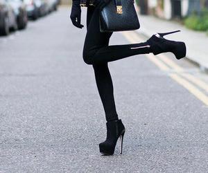fashion, black, and heels image