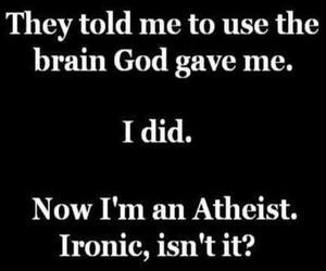 atheist, funny, and god image
