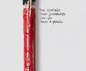 pencil, bite, and journalism image