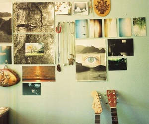 guitar, room, and photography image