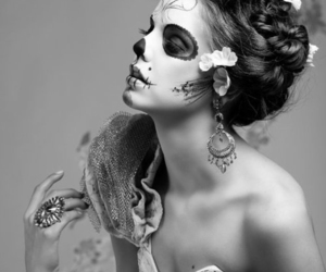 awesome, hair, and skull image