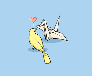 bird, Paper, and love image
