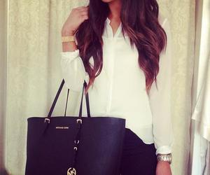 girl, brunette, and class image