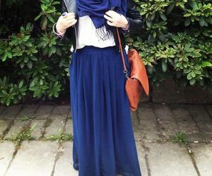 hijab, blue, and style image