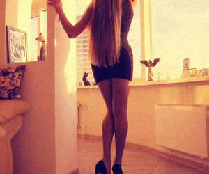 blond, body, and dress image