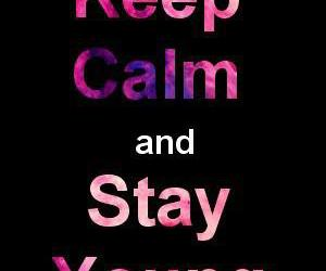 quote, stay, and young image