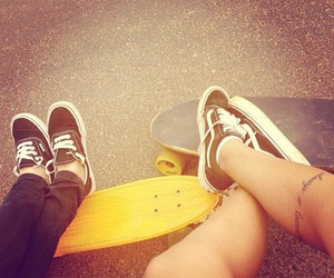 *-*, couple, and vans image