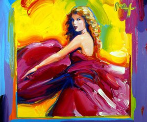 Taylor Swift, speak now, and peter max image