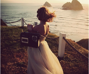 dress, ocean, and radio image