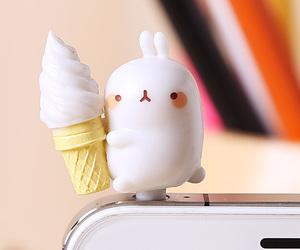 conejo, happy, and ice cream image