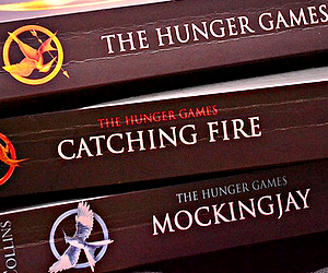 the hunger games and books image