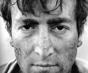 john lennon, black and white, and the beatles image